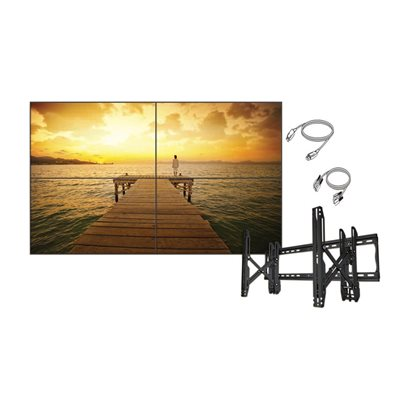 "LG Commercial 49"" 2x2 Video Wall Bundle w /  Crimson Mount"