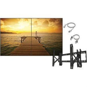 "LG Commercial 55"" 2x2 Video Wall Bundle w / Crimson Mount"