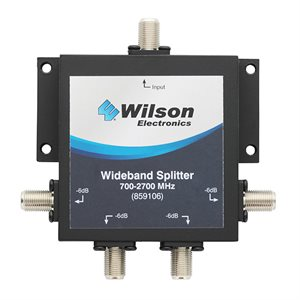 Wilson 75 Ohm 4-Port 700–2,700MHz Split w / F-Female Connector
