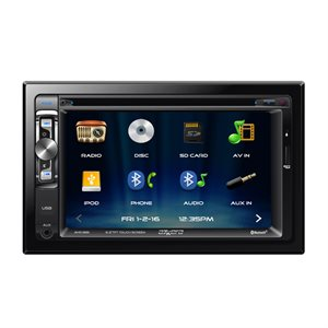 "Axxera DDIN 6.2"" Touchscreen DVD w / BT and USB for iPhone"