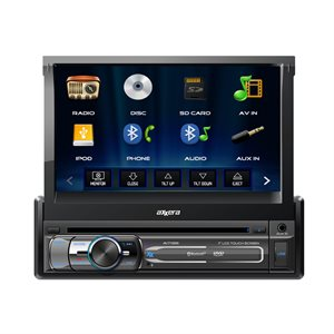 "Axxera SDIN 7"" Motorized TS DVD w / BT and USB for iPhone"