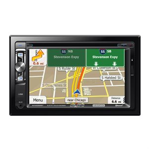 "Axxera DDIN 6.2"" Touchscreen DVD w / Nav, BT & USB for iPhone"