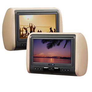 "AudioVox 9"" Universal Headrest HD Video Monitor w / DVD,HDMI"