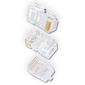 Ethereal 8-Pin Cat 5 RJ45 Crimp Connector (50 pk)