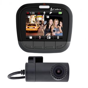 Cobra Dual Channel Dash Cam with Front and Rear Cameras