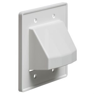 Arlington 2-Gang Reversible Cable Wall Plate (white)