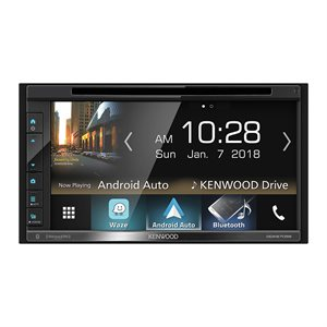 "Kenwood 6.8"" WVGA DVD Receiver, Car Play Ready, BT,Rear USB"