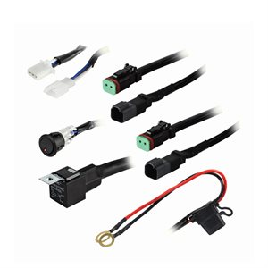 Heise Under 120W 2-Lamp LED Wiring Harnes and Switch Kit