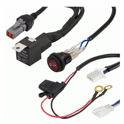 Heise Under 320W 1-Lamp LED Wiring Harnes and Switch Kit