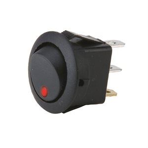 Flush Mount Round Rocker Switch w// Red LED IBRRSR INSTALL BAY Pack of 5