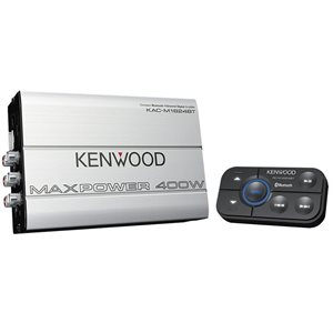 Kenwood 400W Compact 4 Channel Amplifier with Bluetooth
