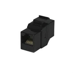 ZUUM Cat 5e In-Line Keystone Coupler (black)