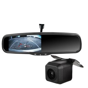 "RoadGear 4.3"" Mirror Monitor, 2 Video w / Video Auto Trigger"