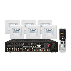 Russound MCA-66 Multizone Controller Amplifier w / Six MDK-C6