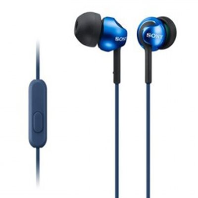 Sony Step-Up EX Earbud Headphones with Mic (blue)