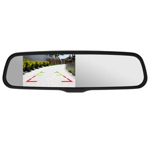 "Momento R1 Rear View Mirror 4.3"" Ghost LCD, Auto-Dimming LCD"