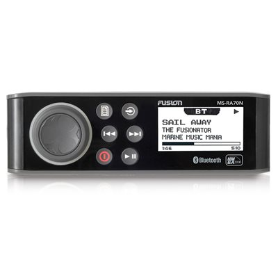 Fusion Marine AM / FM / NMEA 4x50W 2 Zone with Bluetooth