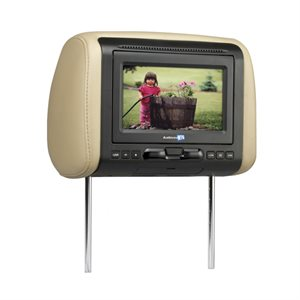 "Movies2Go 7"" Headrest Monitor with Built-In DVD Player HDMI"