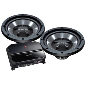 "Kenwood 12"" 350W Bass Party Pack / KAC-5207 & KFC-W112S"