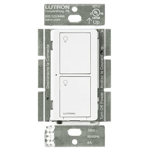 Lutron Caséta 5A 2-Button RF Switch (white)
