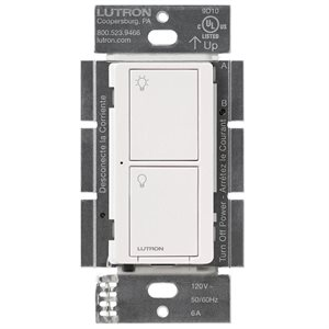 Lutron Caséta 6A 2-Button RF Switch (white)