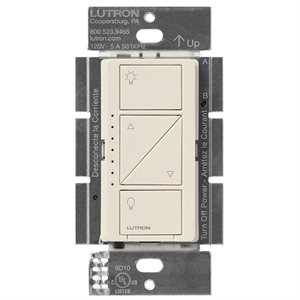 Lutron Caséta Wireless Multi-Loc In-Wall Dimmer (lt. almond)