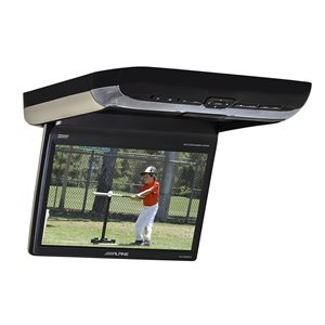 "Alpine 10.1"" Overhead Video Monitor w / Built-In DVD Player"