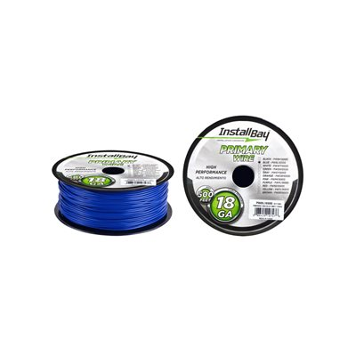 Install Bay 18 ga Primary Wire 500' Spool (blue)