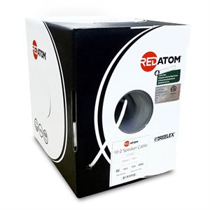 Red Atom 16 / 2 26-Strand Speaker Wire 500' Box (white)
