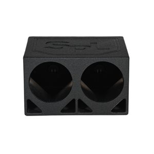 "SPL Boxes 2 Hole 10"" Triangle Ported Finished w / Bed Liner"