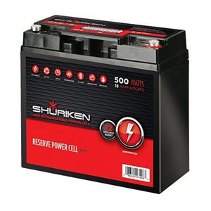 Shuriken 500 Watt 18 Amp Hours Compact Size AGM 12V Battery