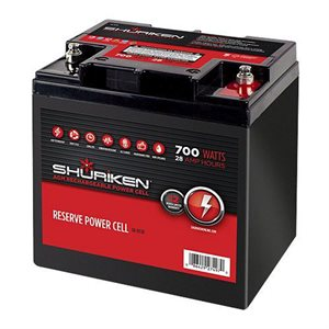Shuriken 700W 28 Amp Hours Compact Size AGM 12V Battery