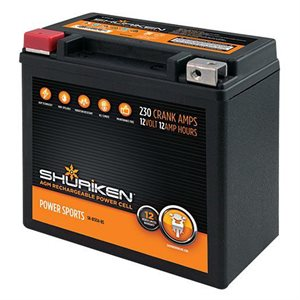 Shuriken 230 Crank Amps 12 Amp Hours AGM Battery