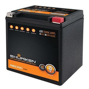 Shuriken 420 Crank Amps 30 Amp Hours AGM Battery