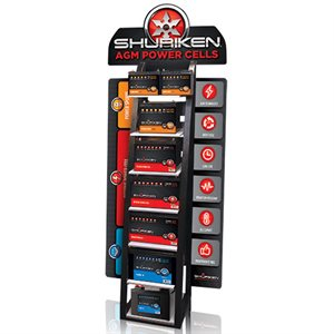 Shuriken Display Battery Rack