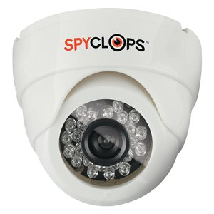 Spyclops CCTV CCD Indoor Mini Dome Camera (plastic, white)