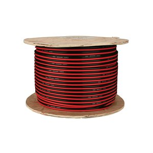 Install Bay 16 ga Speaker Wire 500' Spool (red / black paired)