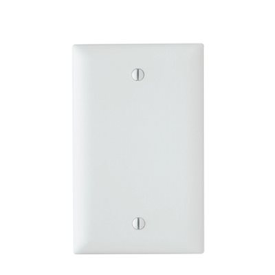 On-Q 1-Gang Blank Solid Wall Plate (white)