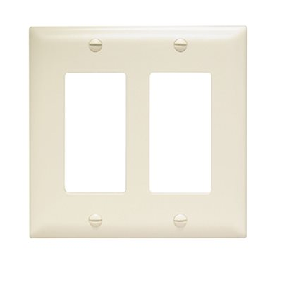 On-Q 2-Gang Decorator Wall Plate (light almond)