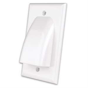 Vanco Flat Panel One-Gang Cable Wall Plate (white)