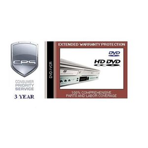 CPS 3 Year Blu-ray / DVD / VCR Warranty - Under $500