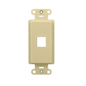 On-Q 1-Port Decorator Outlet Strap (light almond)