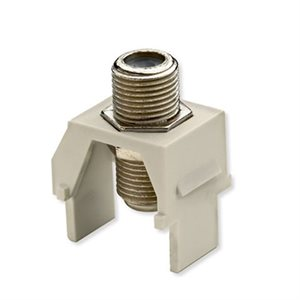 On-Q 1GHz F-Connector Insert (light almond, 10 pk)