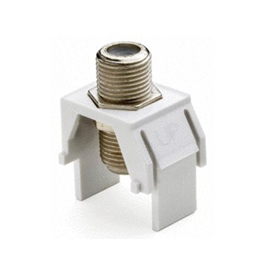 On-Q 1GHz F-Connector Insert (white, 10 pk)