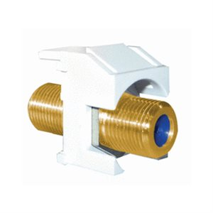 On-Q 1GHz Recessed Self-Terminating F-Connector (white)