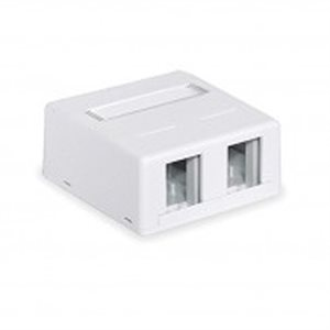 On-Q 2-Port Surface Mount Box (white)