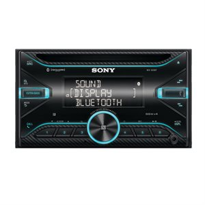 Sony DDIN SXM 55W Power Megabass with Bluetooth