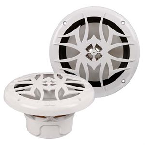 "PowerBass 6.5"" Marine Grade Coaxial Speaker (white, pair)"